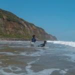 旭市 屏風ヶ浦の南端は、ウミガメが産卵する素敵な砂浜、テトラには磯牡蠣!
