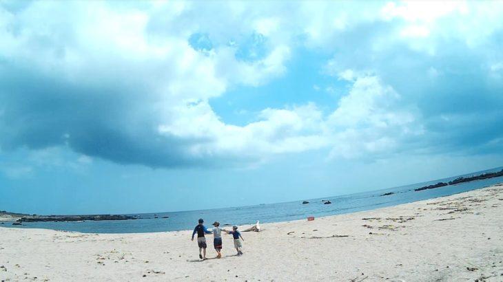 南房総市 根本海水浴場で真夏のキャンプ、バーベキュー、シュノーケリング、磯遊び、ウツボもゲット