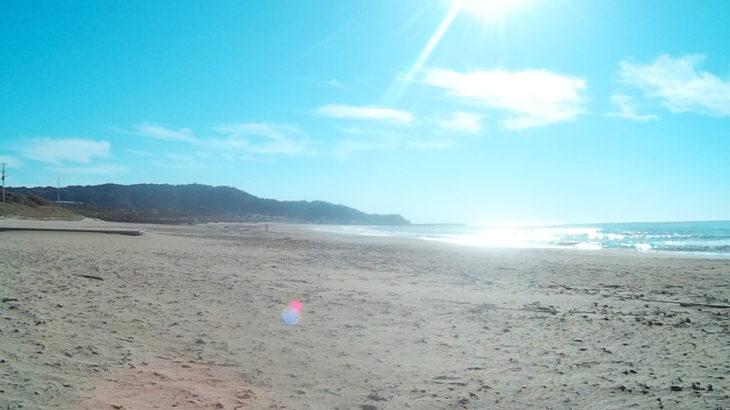 夷隅郡 御宿海岸の端っこで、投網でセイゴを一網打尽!