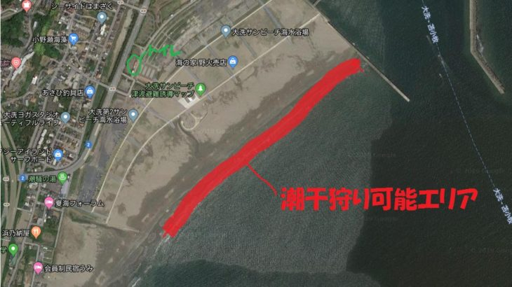 茨城県 大潮の大洗サンビーチでハマグリをゲット!